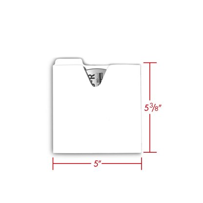 CD file folder with dimensions