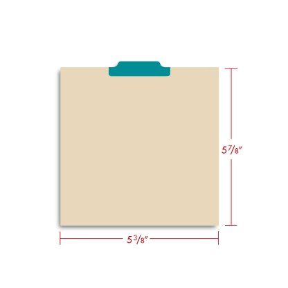 CD Tabbed dividers shown with dimensions
