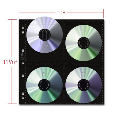 Oversize CD page shown with dimensions