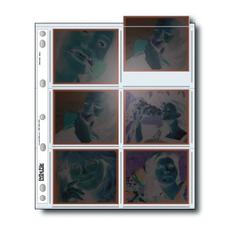 EM-6 page for 4x5 negatives with negatives inserted