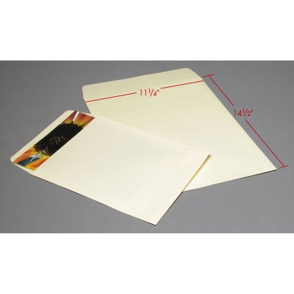 11x14 Cream Flap envelopes with dimensions