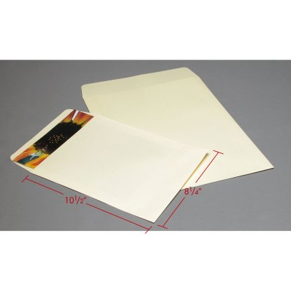 8x10 Cream Flap envelopes with dimensions