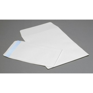 White Flap envelopes, opened on short side