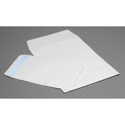 White Flap envelopes, opened on short side