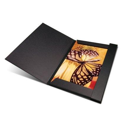 FolioFolder, black inside, shown opened