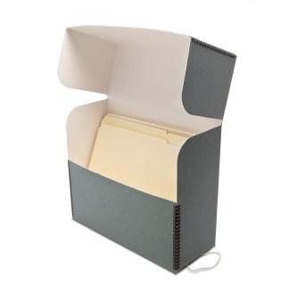 Gray document box- opened