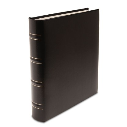 Compact gallery leather black padded album