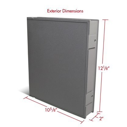 Gray Safe-T-Binder with exterior dimensions