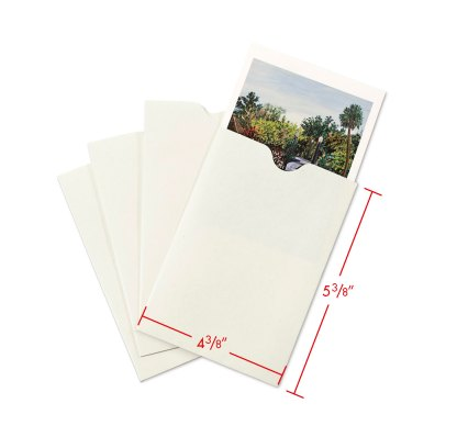 4x5 Negative and Print envelope with dimensions