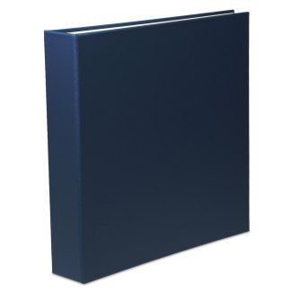 "Blue oversized 1.5"" binder"