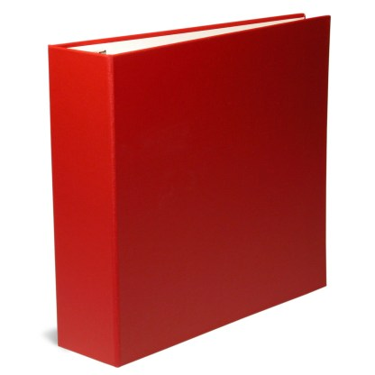 "Red oversized 2.5"" binder"