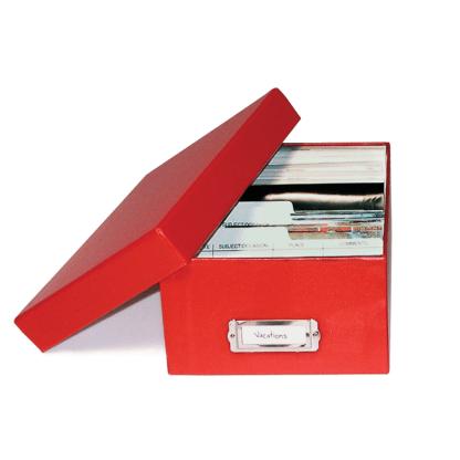 Red photo storage box