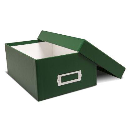 Green photo storage box-opened
