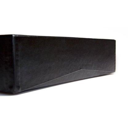 Portfolio Box Binder v-cut lid detail