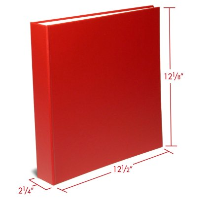 Red 1.5 oversized binder with dimensions