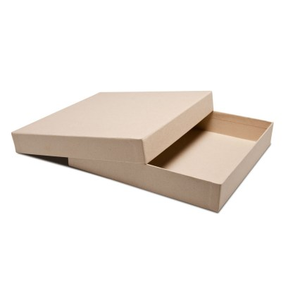 8x8 Kraft Press Printed Book Box- opened