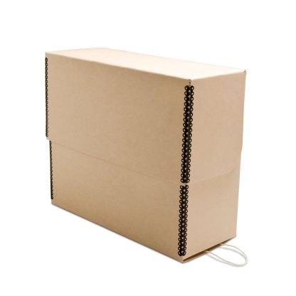 Tan document storage box- closed