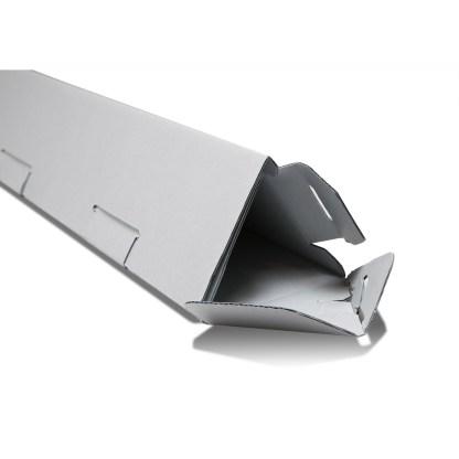 Gray Triangle tube box- closed