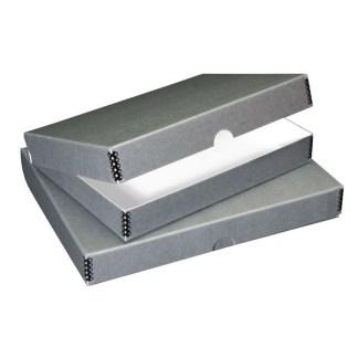 Gray clamshell metal edge box