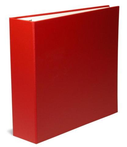 """Red OB binder 2.5"""" ring"""