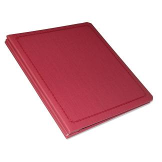 Burgundy Presentation book shown closed