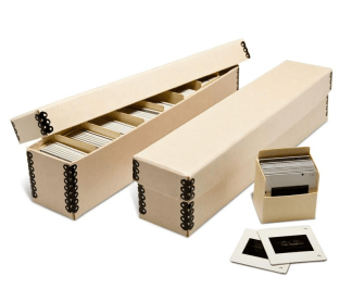 Tan Slide boxes with bins inside