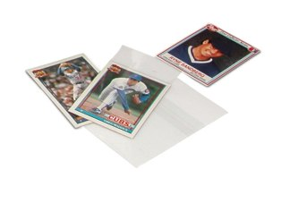 Clear sleeves for collectable cards