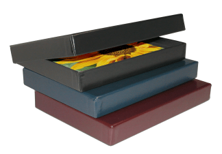Leather Clamshell Portfolio Boxes