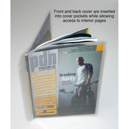 Magazine holder shown standing