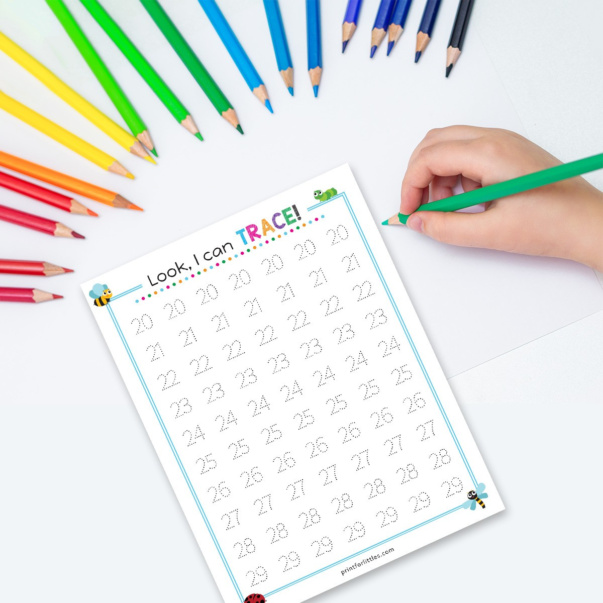 Numbers 1 50 Tracing Worksheets