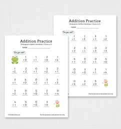 Number Addition Worksheets for Kindergarten and Preschool [ 1200 x 1200 Pixel ]