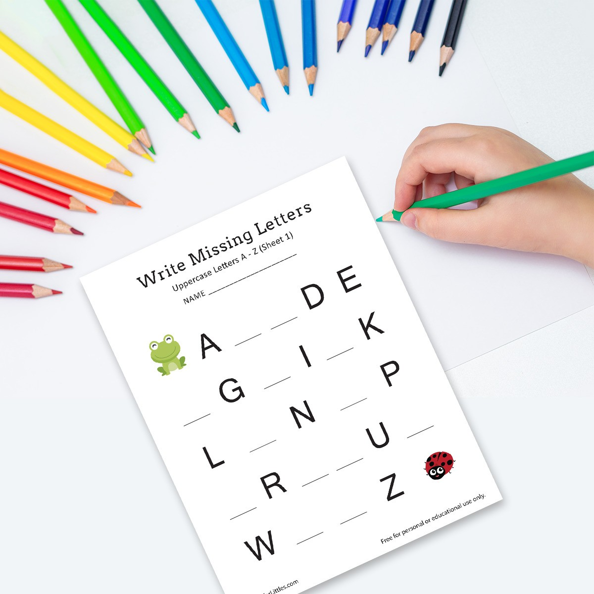 Kindergarten And Preschool Write Missing Letters A Z