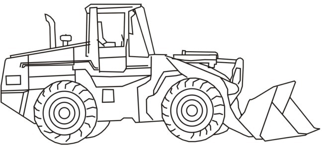 front loader outline