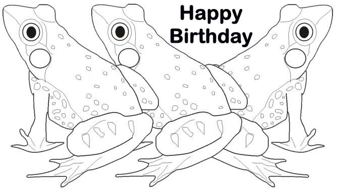 Coloring Birthday Folding Card Coloring Pages