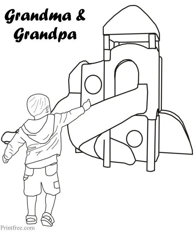 grandchild and play ground print
