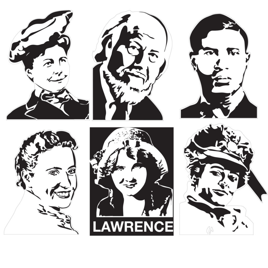 The original  black and white drawings, done in Adobe Illustrator