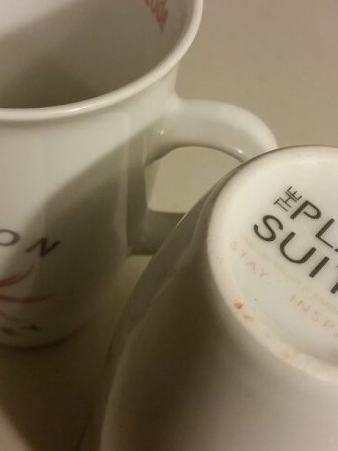 Custom Printed Plaza Suites Hotel Mugs