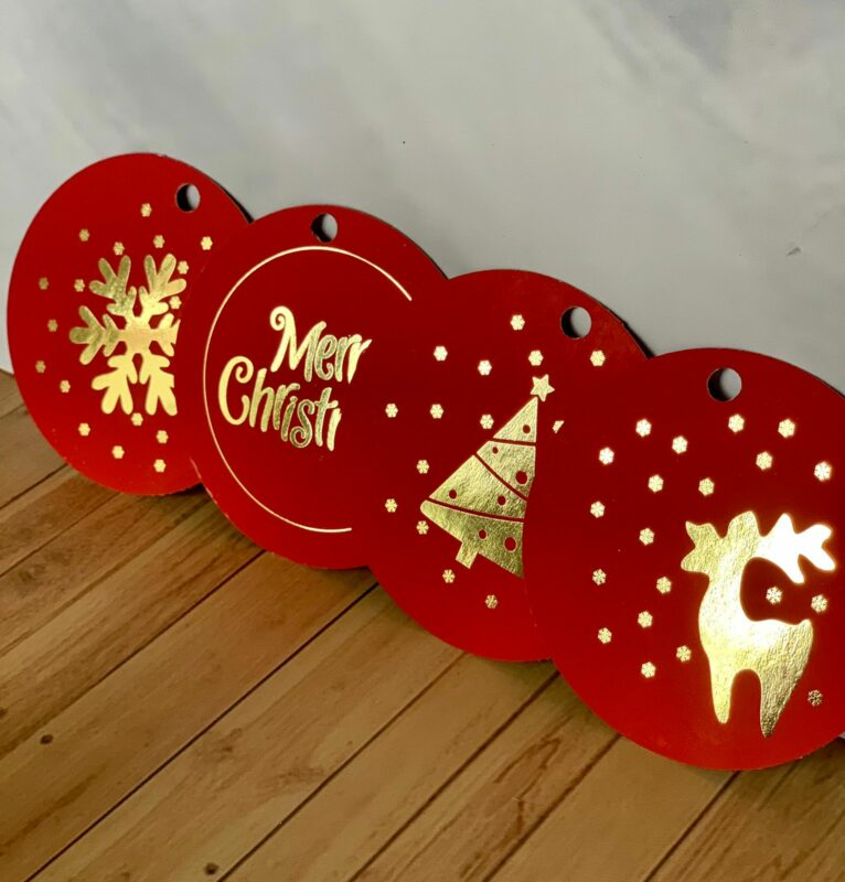 CHRISTMAS TAG FOILED (pack of 12)