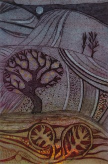 Ruth Barrett Danes, The Lost Valley, Collagraph