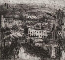 Andrew Hambleton, Elland Landscape III, Drypoint