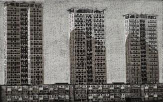 Louise Hayward, Point Blocks, Low Rises, Relief engraving