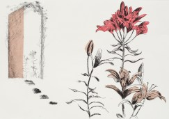 Linda Nevill, From Here to There, Drypoint, carborundum and chine collé