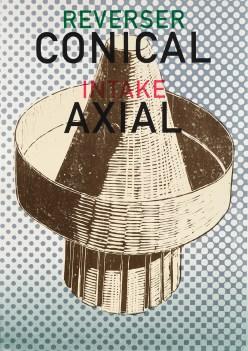 Carl Rowe, Conical Axial, Screenprint and woodcut