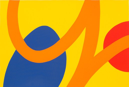 Ian Scaife, Red and Blue on Yellow, Screenprint