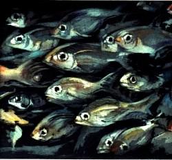 Barbara Jackson 'Rush Hour' etching/aquatint £175