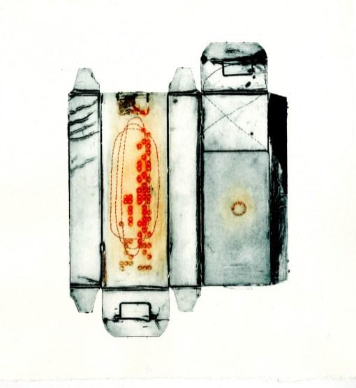 Jess Bugler 'Enclosure V11' collograph £120