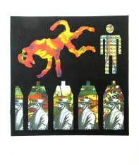 Colin Gillespie 'Loose Virus' collage/relief £100