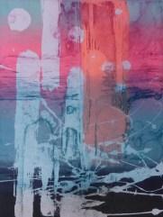 Julie Sullock 'Lunar Landscape' screenprint/etching £165