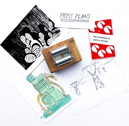 mini etching press relief press plans