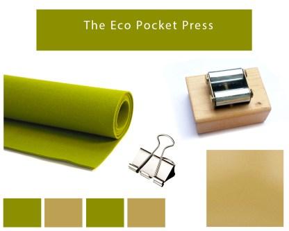 A green, eco friendly Pocket Printmaking Press
